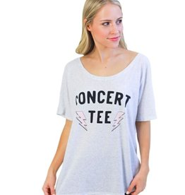 friday + saturday concert tee