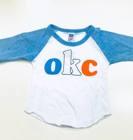 LivyLu kids OKC tri-color baseball tee