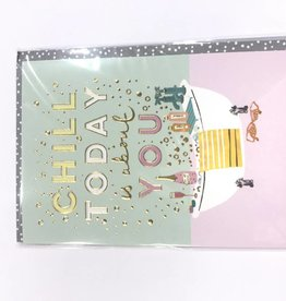 Calypso chill out birthday card