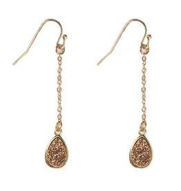rose gold druzy drop earring