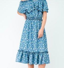 off shoulder maxi dress FINAL SALE