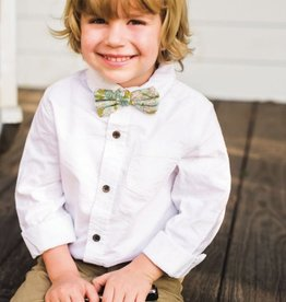 milkbarn blue floral bow tie