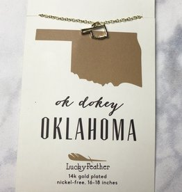 state necklace - gold oklahoma