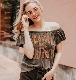 LivyLu osu classic off the shoulder tee