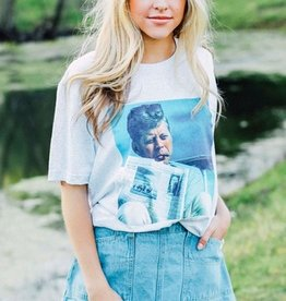 jfk newspaper tee