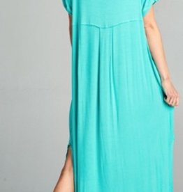 mint solid stretch jersey maxi