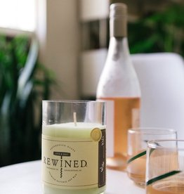 rose' rewined candle