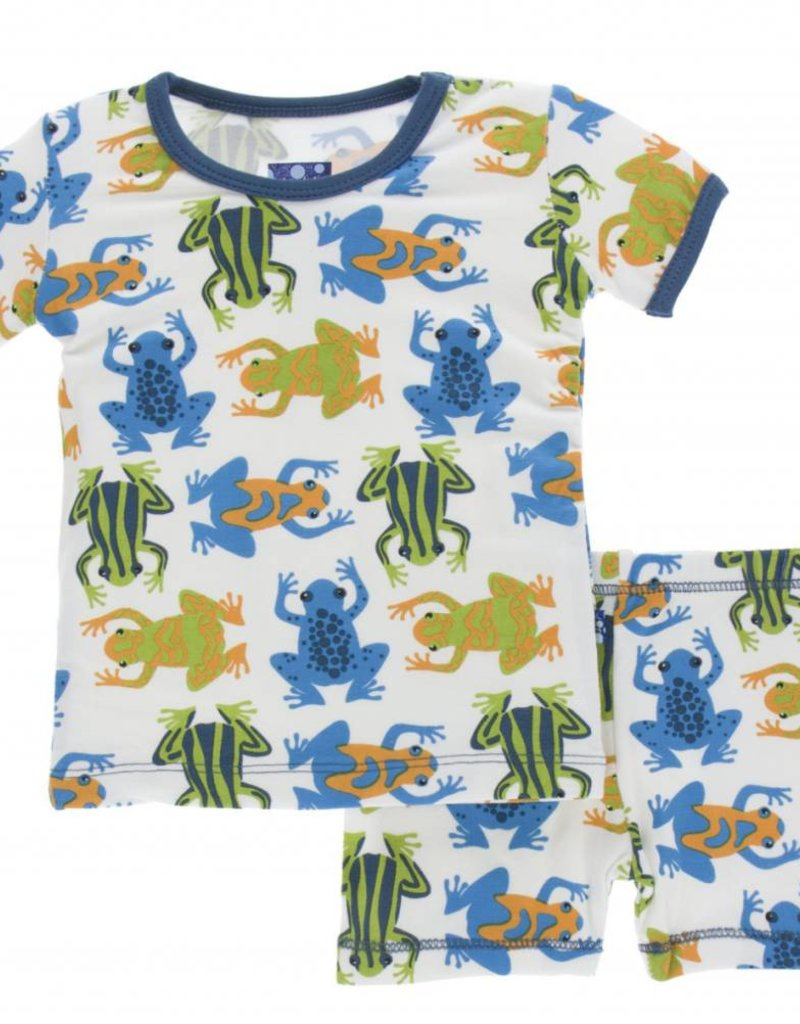kickee pants amazon frogs short sleeve pajama set with shorts