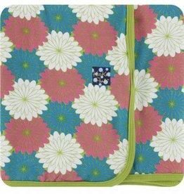 kickee pants tropical flowers swaddling blanket