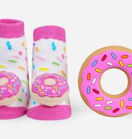 waddle donut rattle sock and silly chew 0-12 m