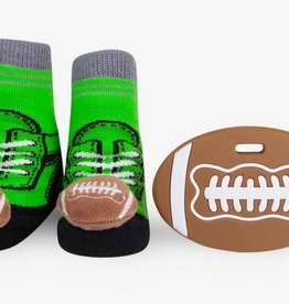 waddle football rattle sock and silly chew 0-12m