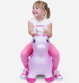 waddle unicorn bouncy toy - pink