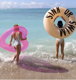 beach please! jumbo heart innertube-translucent