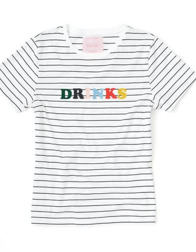 drinks striped tee