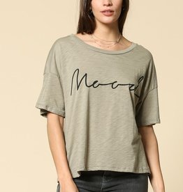 mood cotton slub tee