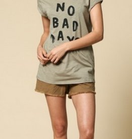 no bad days cotton tee