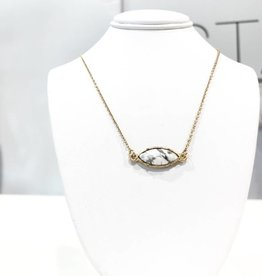 marble oval necklace