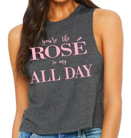 R+R rosé to my all day crop top