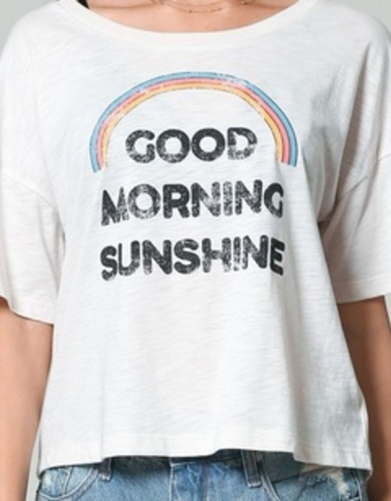 good morning sunshine boxy tee