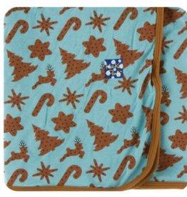 kickee pants Christmas cookies swaddling blanket
