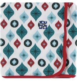 kickee pants natural vintage ornaments swaddling blanket