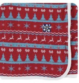 kickee pants nordic print swaddling blanket