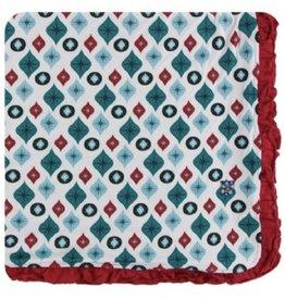 kickee pants natural vintage ornaments ruffle toddler blanket