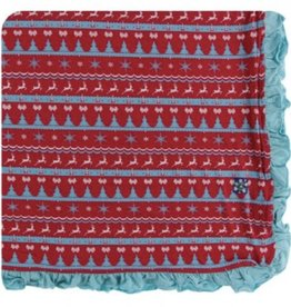 kickee pants nordic print ruffle toddler blanket