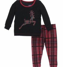 kickee pants Christmas plaid long sleeve pajama set
