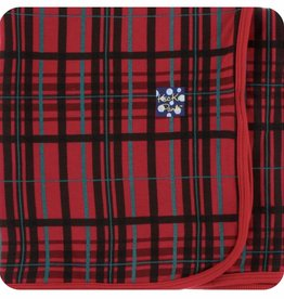 kickee pants Christmas plaid swaddling blanket