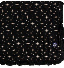 kickee pants rose gold bright stars ruffle toddler blanket