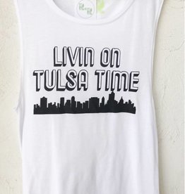 R+R livin on tulsa time muscle tank