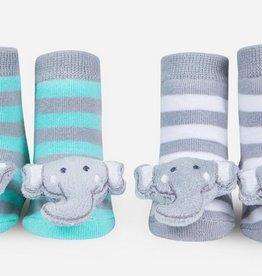waddle elephant rattle socks
