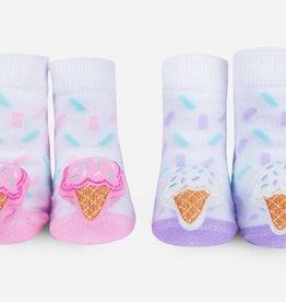waddle ice cream rattle socks 0-12m