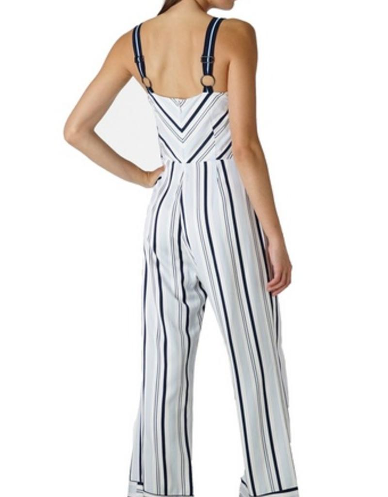 ava woven striped jumpsuit