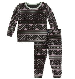 kickee pants african pattern print long sleeve pajama set