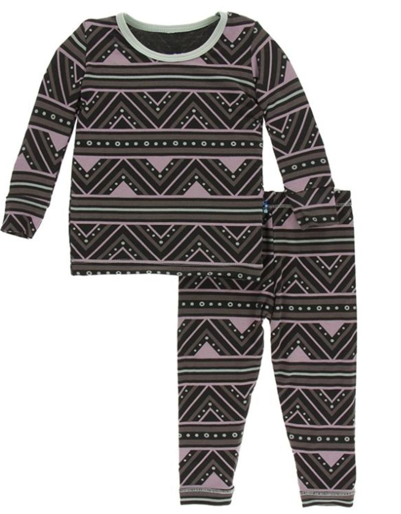 kickee pants african pattern print long sleeve pajama set