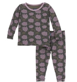 kickee pants african violets long sleeve pajama set