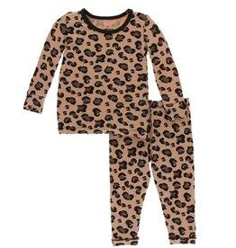 kickee pants suede cheetah print long sleeve pajama set