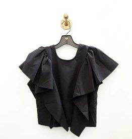 draped flounce top