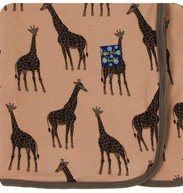 kickee pants suede giraffes swaddling blanket