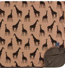 kickee pants suede giraffes toddler blanket