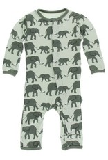 kickee pants aloe elephants coverall with snaps