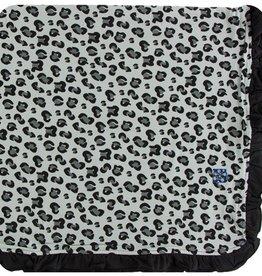 kickee pants aloe cheetah ruffle toddler blanket