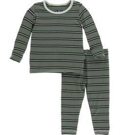kickee pants succulent kenya stripe pajama set
