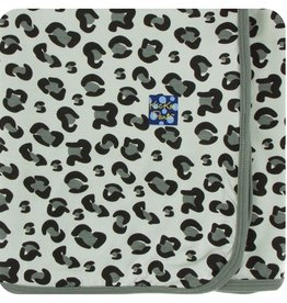 kickee pants aloe cheetah swaddling blanket