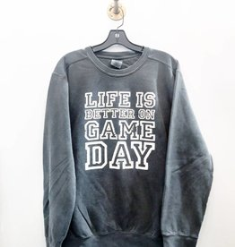R+R life is better on game day sweatshirt