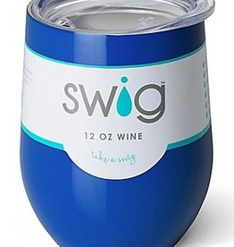 swig 12oz stemless wine cup royal blue