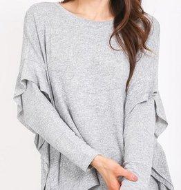 reagan ruffle sleeve top