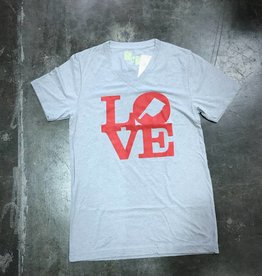 R+R love v-neck triblend tee